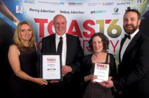 We won! Toast of Surrey Business Awards 2016