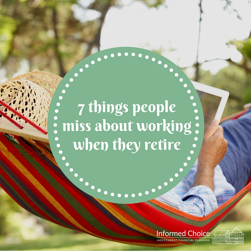 7 things people miss about working when they retire info