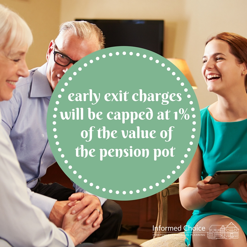 Capping early exit charges on pensions