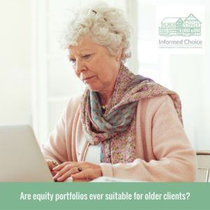 Are equity portfolios ever suitable for older clients?
