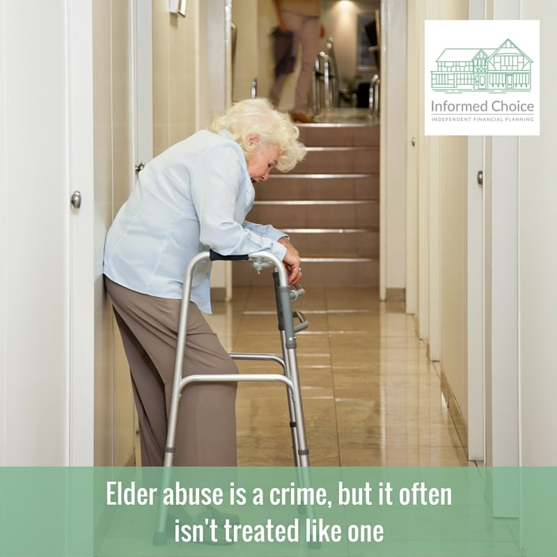 Elder abuse is a crime, but it often isn't treated like one