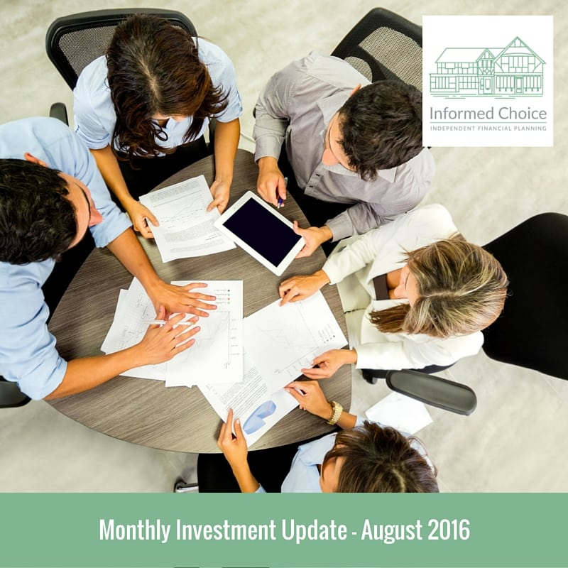 Monthly Investment Update August 2016