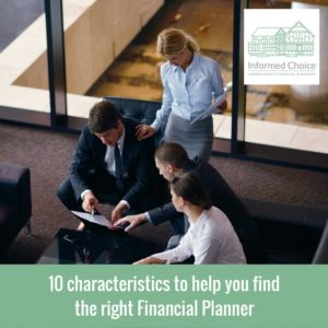 10 characteristics to help you find the right Financial Planner