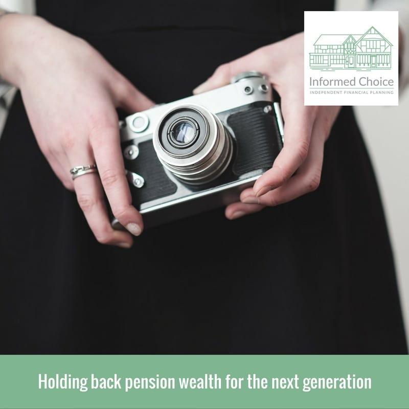 Holding back pension wealth for the next generation