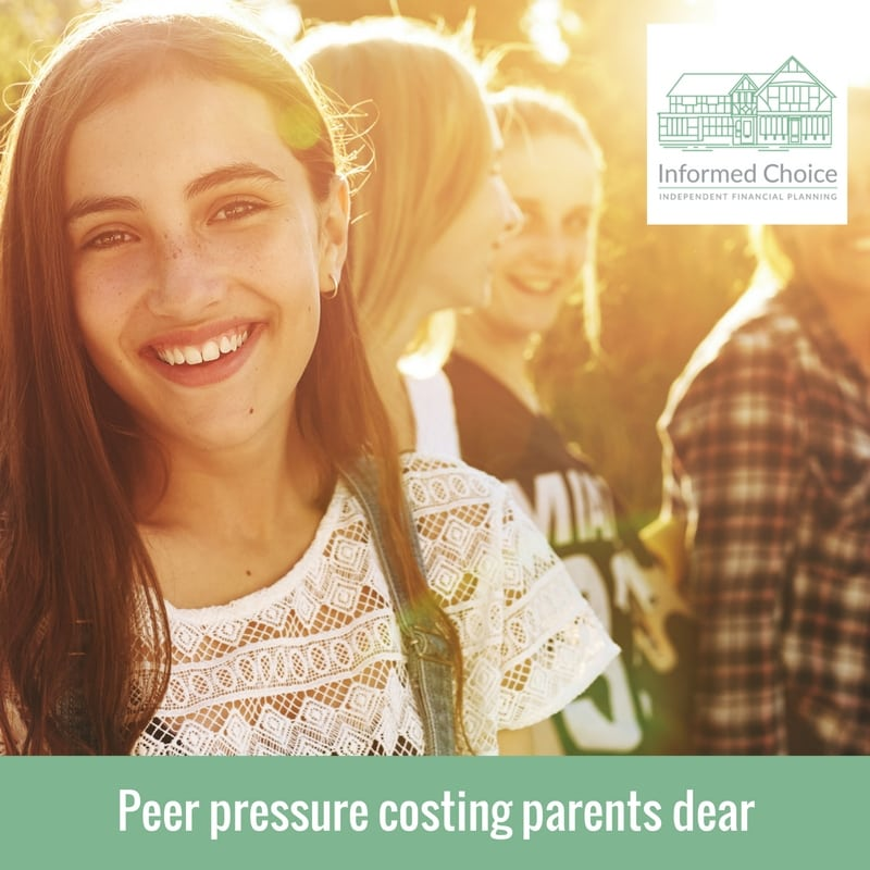 Peer pressure costing parents dear