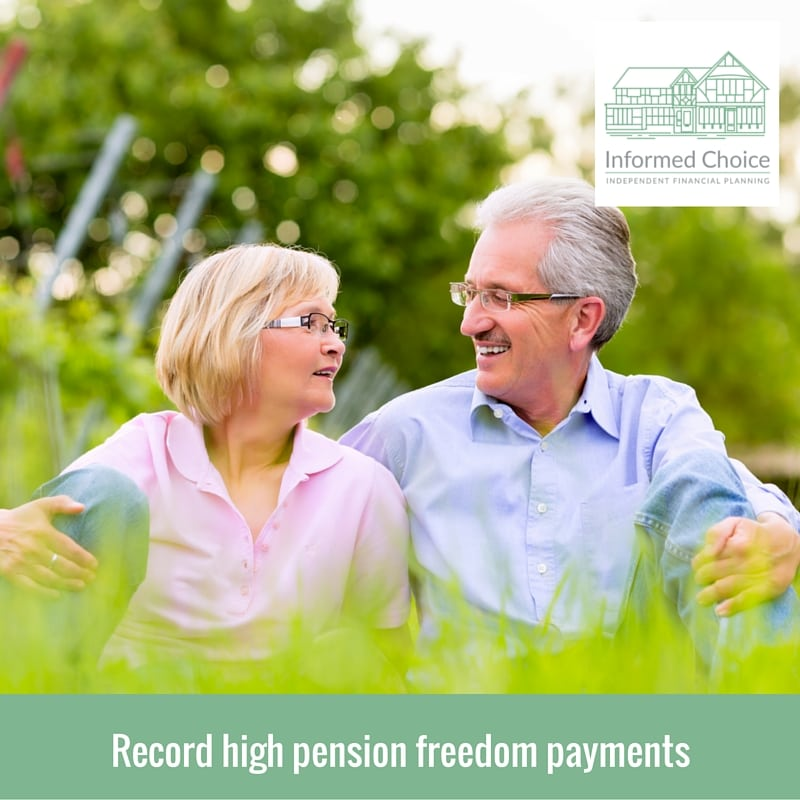 Record high pension freedom payments