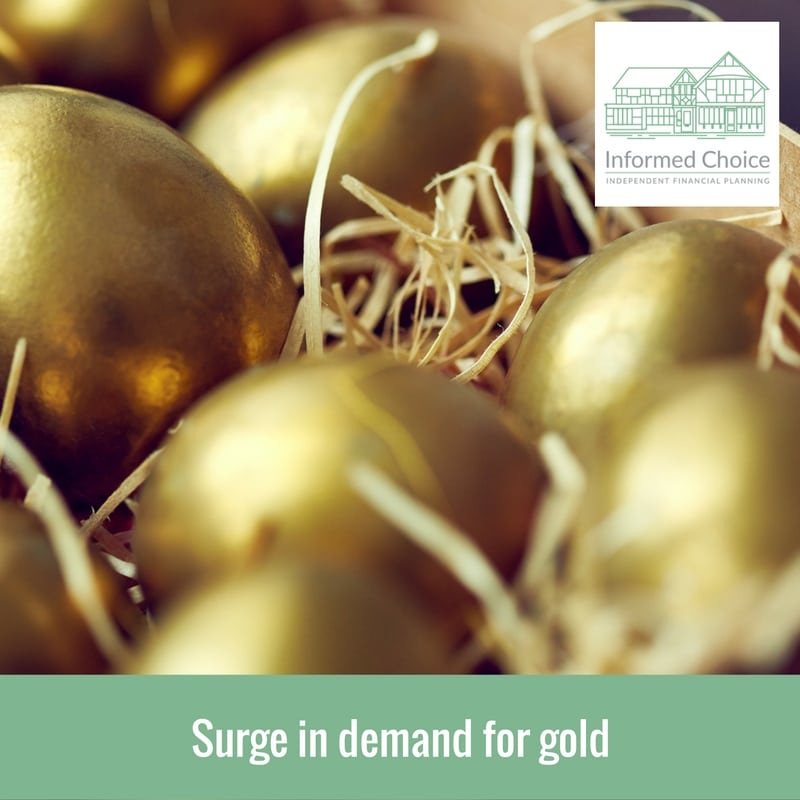 Surge in demand for gold