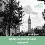 Autumn Statement 2016 date announced