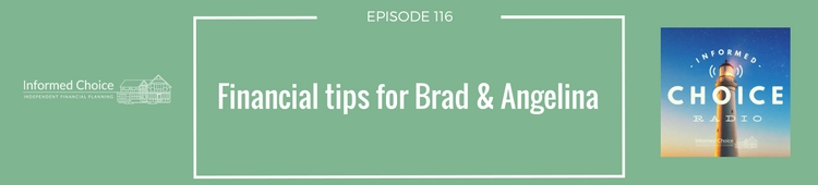 Financial tips for Brad & Angelina