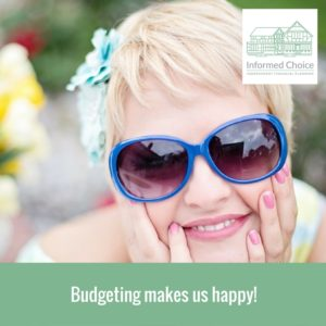 Budgeting makes us happy!