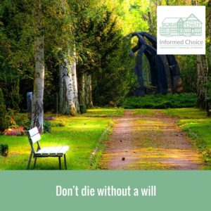 Don't die without a will