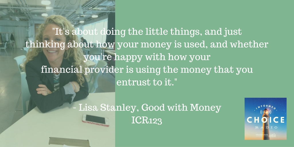 Lisa Stanley, Good With Money