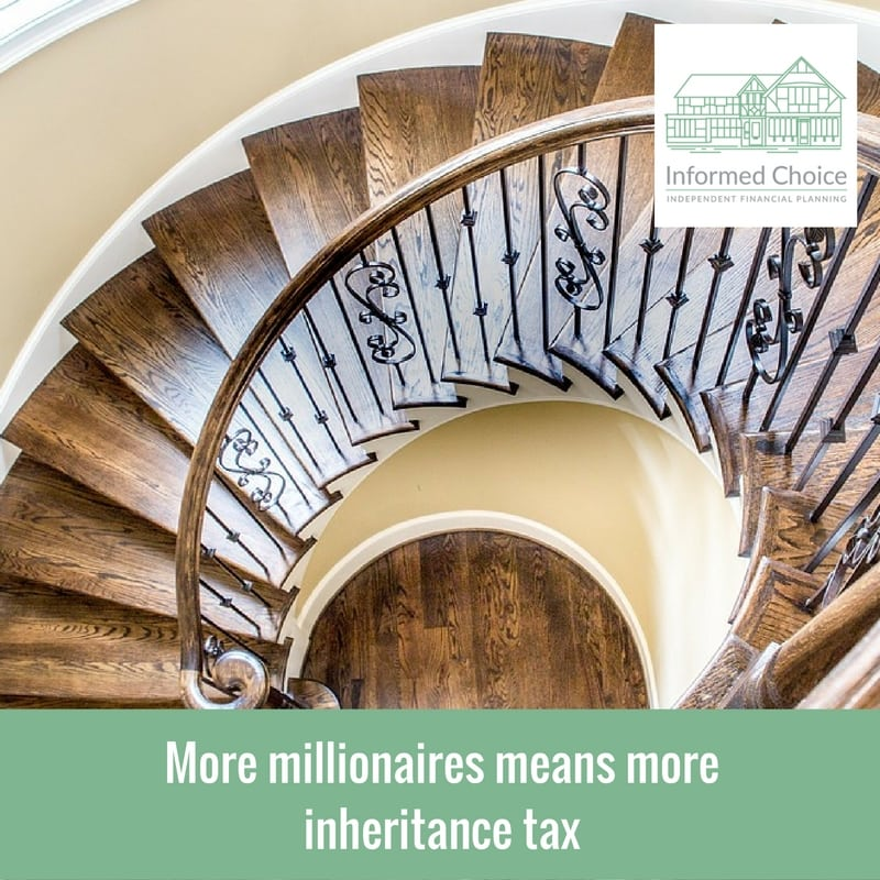 More millionaires means more inheritance tax
