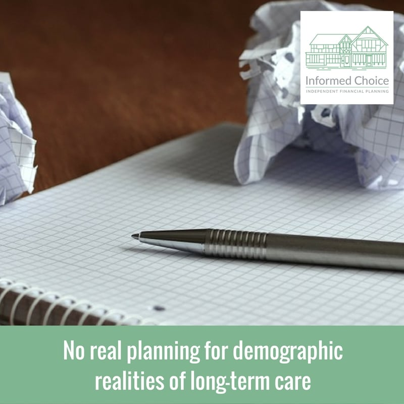No real planning for demographic realities of long-term care