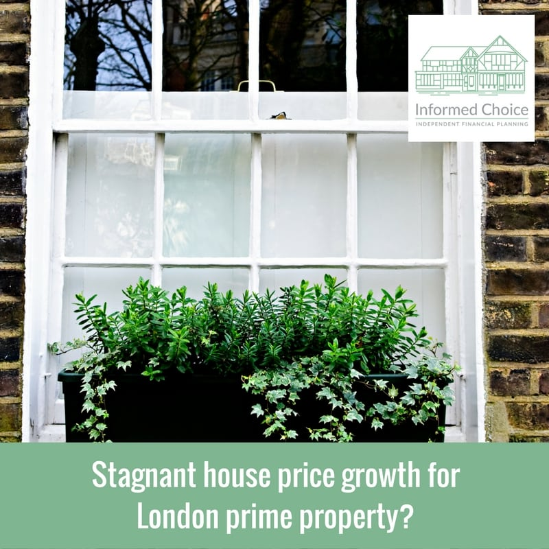 Stagnant house price growth for London prime property?
