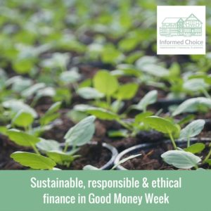 Sustainable, responsible & ethical finance in Good Money Week