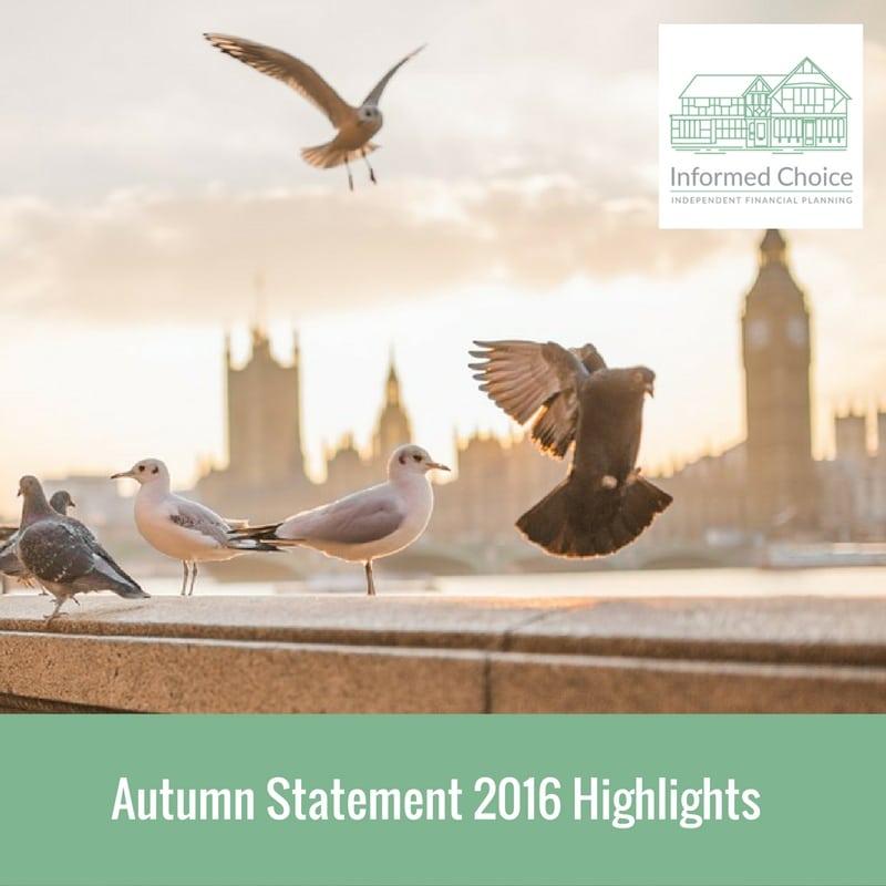 Autumn Statement 2016 Highlights