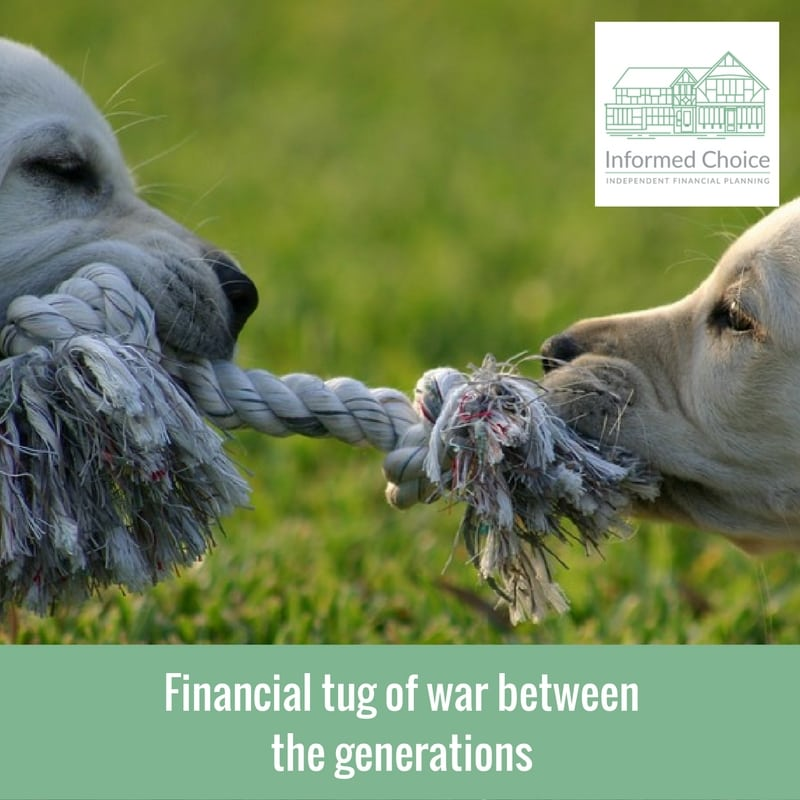 Financial tug of war between the generations