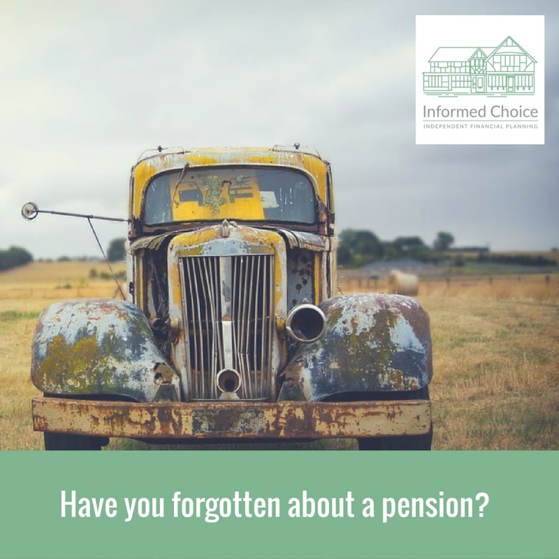 Have you forgotten about a pension?