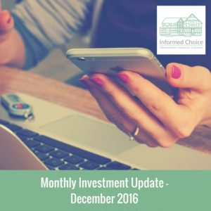 Monthly Investment Update December 2016