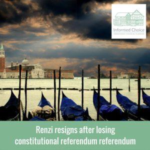 Renzi resigns after losing constitutional referendum referendum