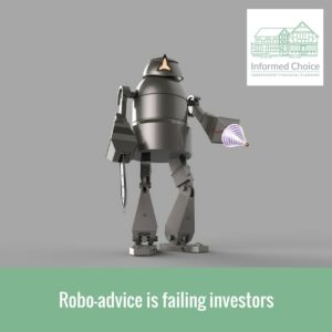 Robo-advice is failing investors