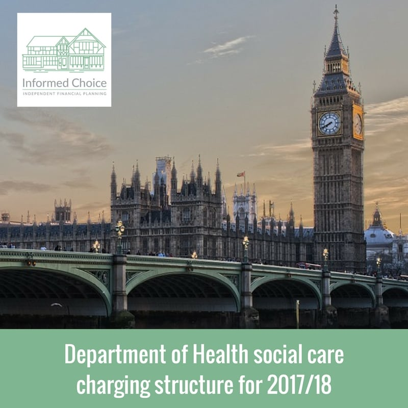 Department of Health social care charging structure for 2017/18