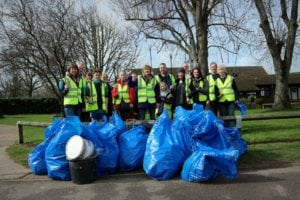 Helping tidy up Cranleigh