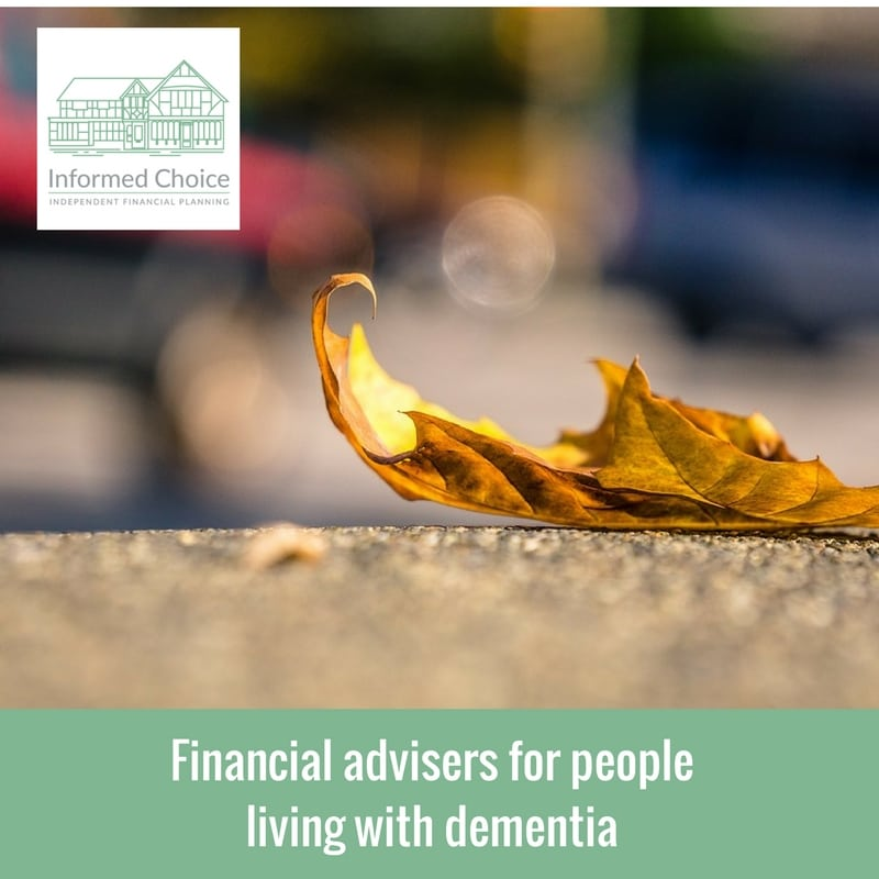 Financial advisers for people living with dementia