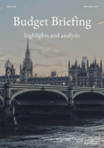 Budget November 2017 Briefing Note from Informed Choice