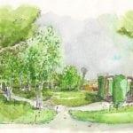 Cranleigh Centenary Garden starts to take shape