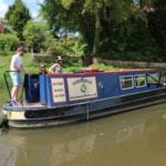 Working as a team to open lock gates