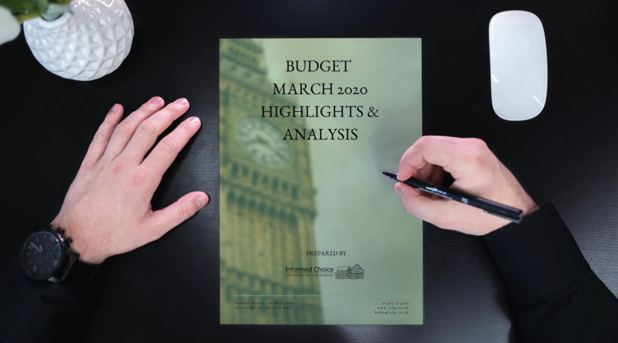 What happened in the Budget at lunchtime today?